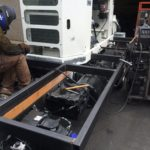 Welding a Custom Concrete Pump to a Chassis